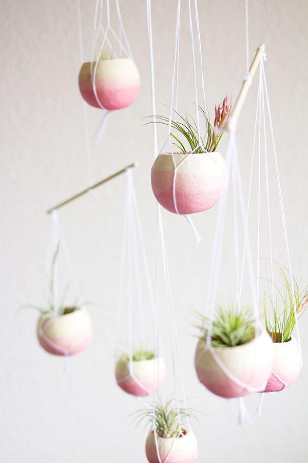 DIY macramé planter hanger
