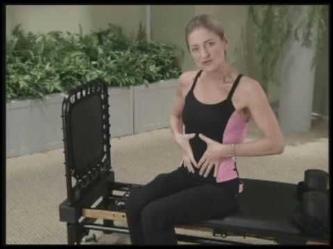 Marjolein Brugman talks about AeroPilates (shows warm up move and some example exercises)