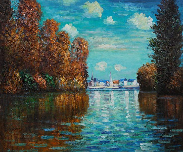 Monet - Autumn at Argenteuil. Monet was baptized in Notre-Dame-de-Lorette, the local parish church.