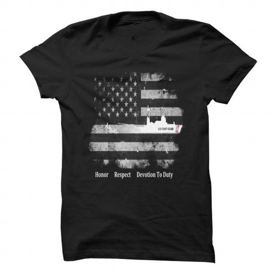 I Love Honor Respect Devotion To Duty US Coast Guard Cutter Shirt Shirts & Tees