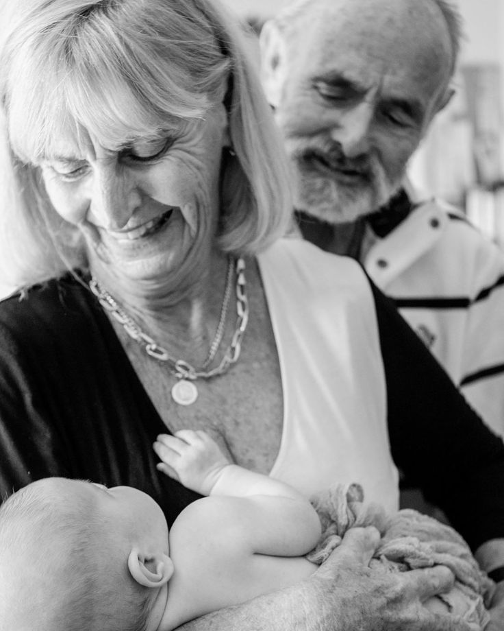 """I just overheard a lady at the hairdresser saying that her granddaughter was """"the brightest spot on her day"""" as she then went on to tell everyone about how she had her Gran completely wrapped around her finger and Gran didn't mind one bit.  How good are grandparents.  This photo is my daughter and her Nanny and Poppy when she was just a few weeks old. See how she's looking at Nanny.....she's saying """"from this day on Nanny you will say yes to the things that my Mum says no to. We'll have…"""
