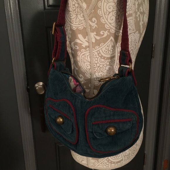 GAP Bag  GAP corduroy green shoulder bag. Good condition, no flaws. 2 outside pockets and one open pocket inside. GAP Bags Shoulder Bags