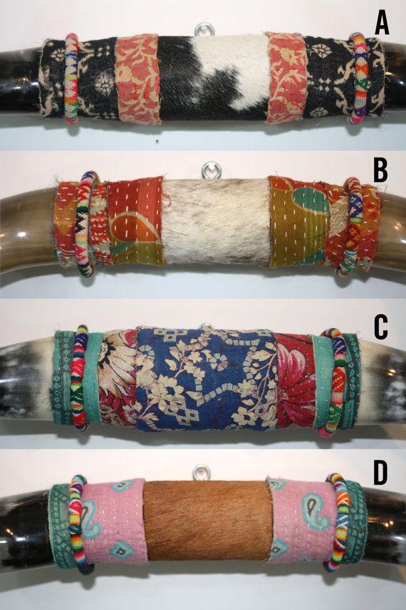 Hipster Decor Bull Horns Bohemian Wall Decor Horns by BohoCircus