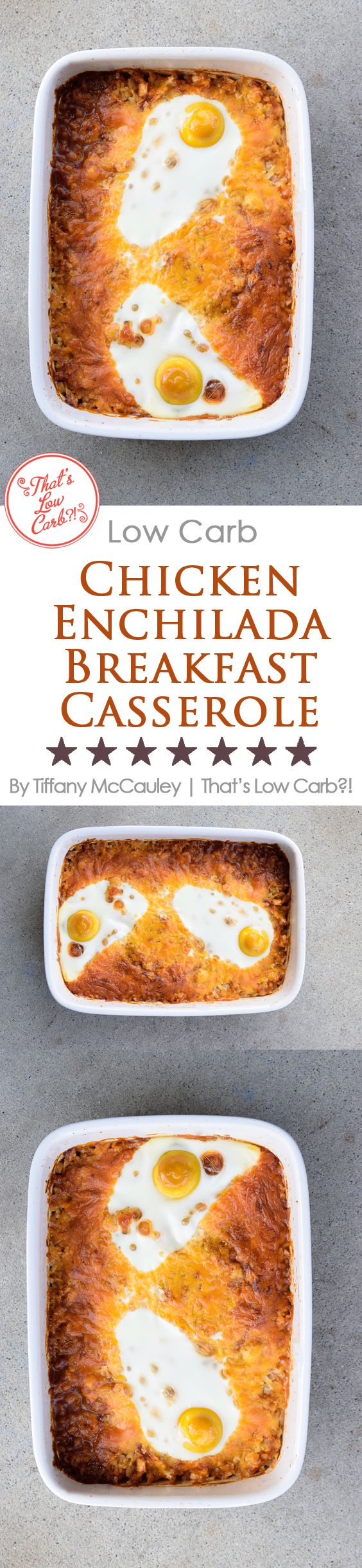 Low Carb Recipes | Chicken Enchilada Breakfast Casserole | Low Carb Mexican Food #LowCarb #LowCarbRecipe #Breakfast ~ https://www.thatslowcarb.com