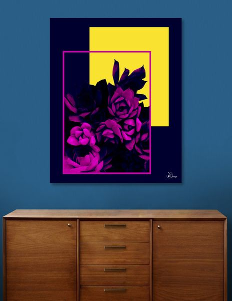 Discover «Neon Succulents», Numbered Edition Canvas Print by DesigndN - From 55€ - Curioos