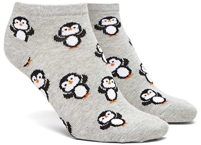 FOREVER 21+ Penguin Print Ankle Socks $1.90
