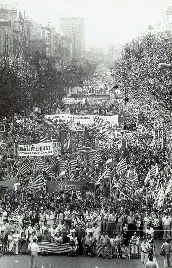 Manifestació de l'11 de Setembre de 1977. Barcelona