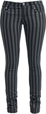 Rock Rebel by EMP Pantalones de tela »Stripes« | Cómpralos en EMP | Más Ropa Rockera Pantalones disponibles online ✓ ¡Precios inigualables!