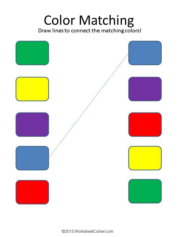matching worksheets color matching worksheets