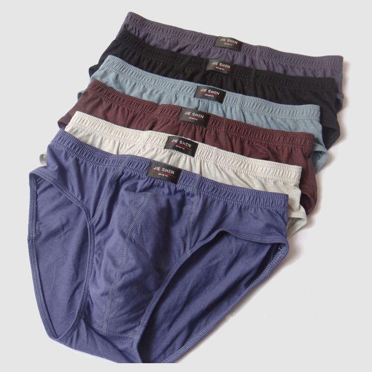 2015 New arrival Solid Briefs Factory Direct Sale 4pcs / Lot Mens Brief Cotton Mens Bikini Underwear Pant For Men Sexy Underwear