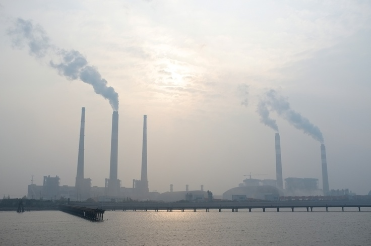 Before reaching Chongming Island one must pass through this - a very clear image of the pollution urbanization is causing.