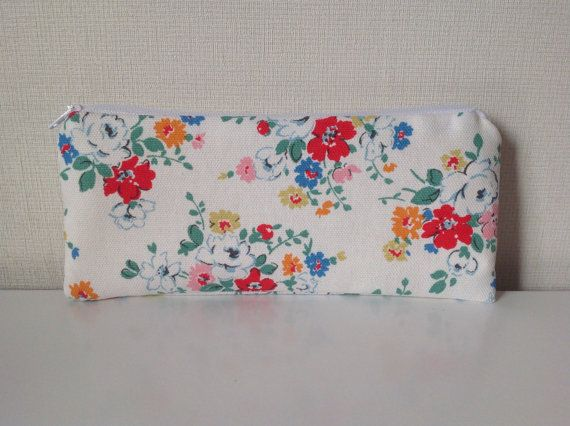 Floral Pencil Case  Cath Kidston Clifton Rose by HomeChicHomeGifts