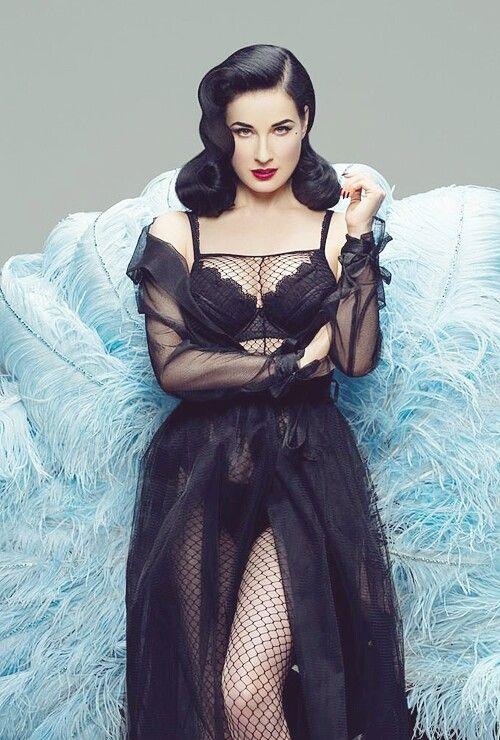 Gorgeous sheer black, Dita Von Teese