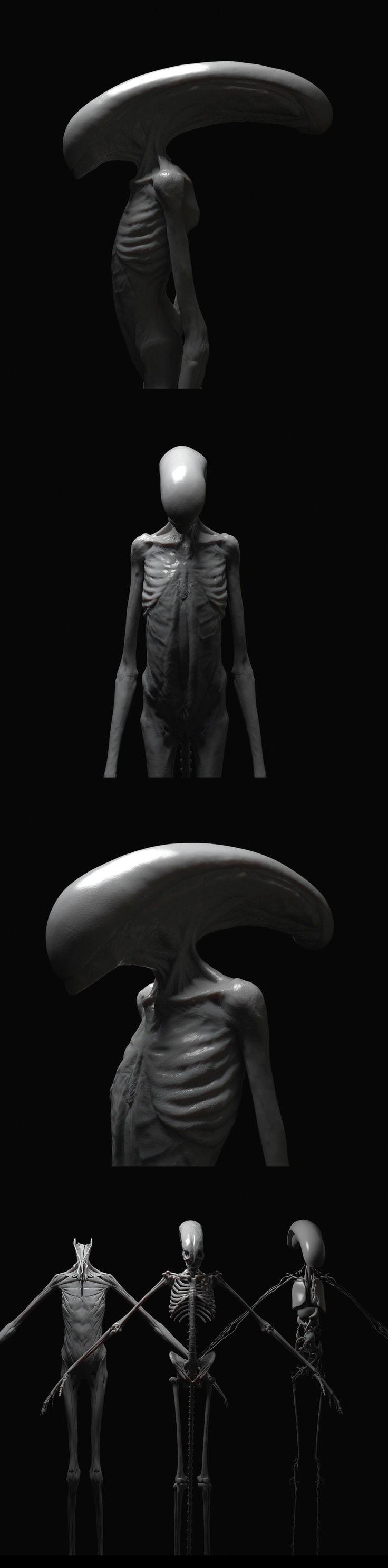 Concept art de Chestburster de Alien : Covenant