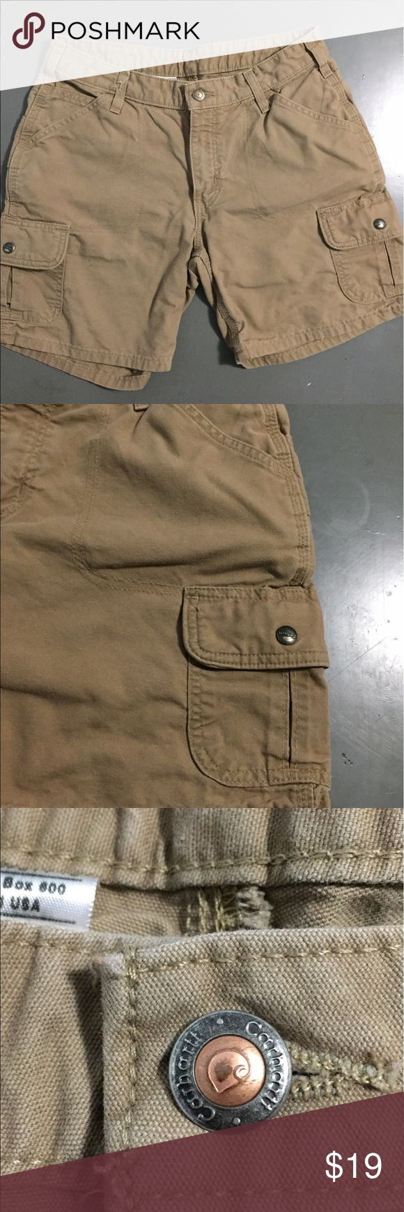 """Women's """"Carhartt"""" cargo shorts Women's Carhartt cargo style shorts. These shorts have multiple pockets as shown in pictures. These are great shorts for any activity. Carhartt Shorts Cargos"""