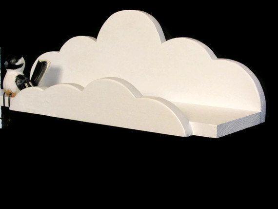 2 Cloud Shelf Deluxe  Children's Decor Aviation by HappywoodGoods, $55.00