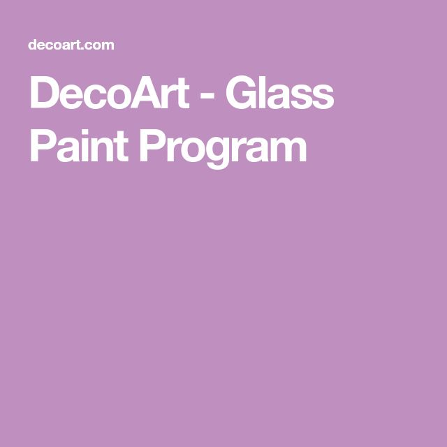DecoArt - Glass Paint Program