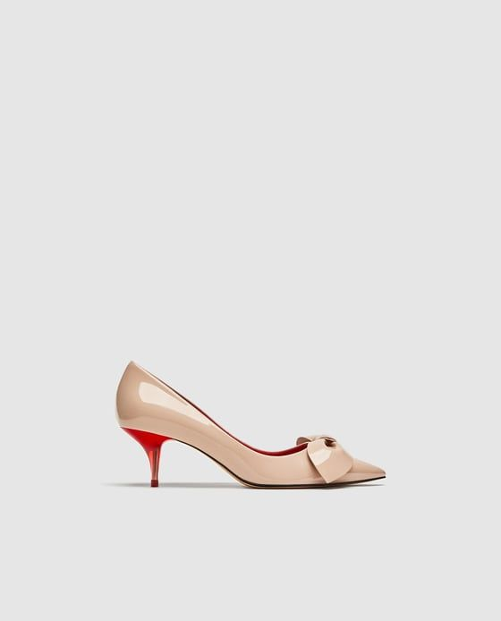 5f03346902b Image 2 of MEDIUM HEEL COURT SHOES WITH BOW from Zara