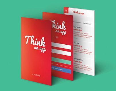 """Check out new work on my @Behance portfolio: """"Think an App"""" http://be.net/gallery/32415591/Think-an-App"""