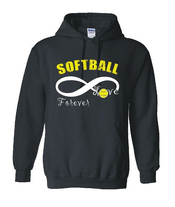 Softball Infinity Love Forever Hoodie