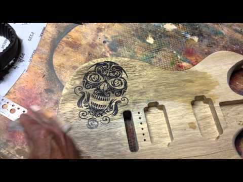 Harvey Leach's Intricate Guitar Inlays on Colour In Your Life - YouTube