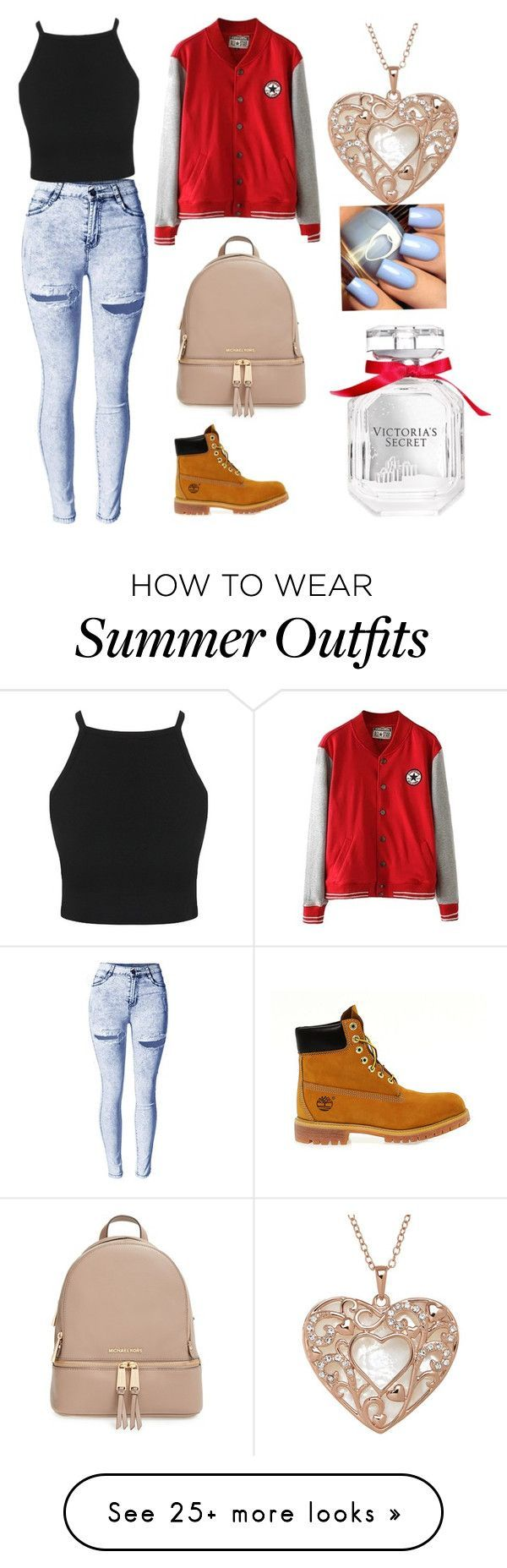 Total KC outfit by areezachohan on Polyvore featuring MICHAEL Michael Kors, Timberland and Victorias Secret