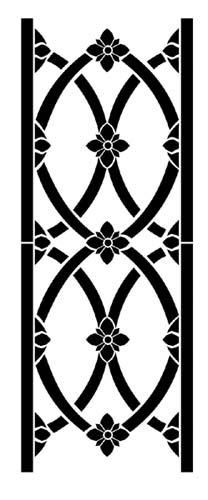 Fancy Wrought Iron Border | Designer Stencils
