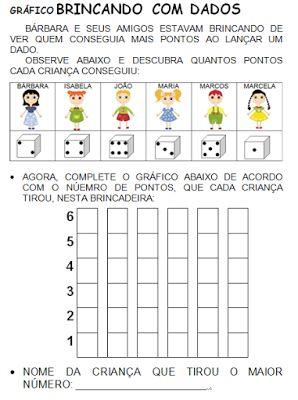 ATIVIDADES PARA EDUCADORES: Gráfico BRINCANDO COM DADOS