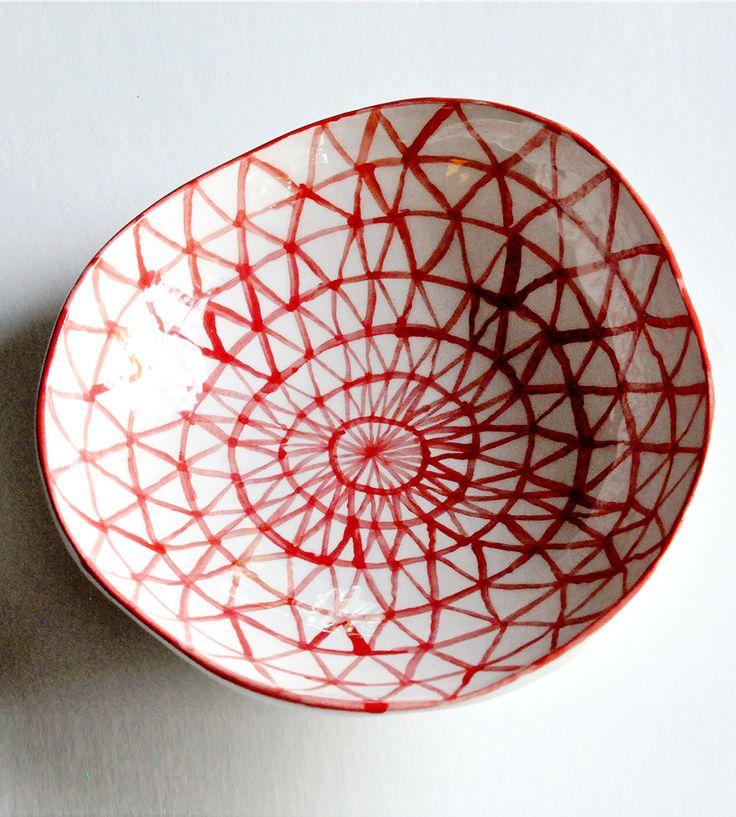 Hand-Painted Ceramic Triangle Bowl | Home Decor | Half Light Honey Studio | Scoutmob Shoppe | Product Detail