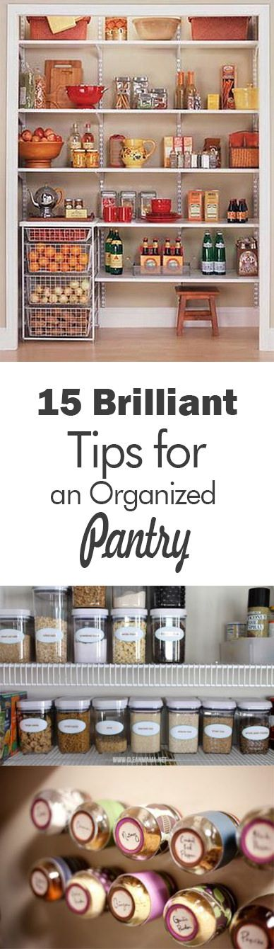 Organize your kitchen and bring order to your kitchen pantry using these top organizing and storage tricks.