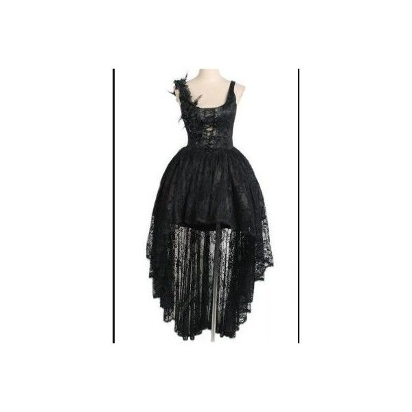 Gardenia Black Lace Gothic Corset Dress by Punk Rave ($145) ❤ liked on  Polyvore