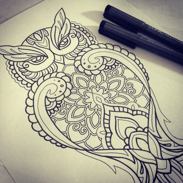 mandala owl tattoo - Google Search