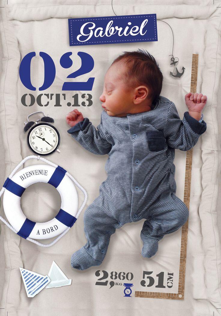 Faire part naissance - New born - My little boy :) Graphic Design ©FabienVANDENABEELE