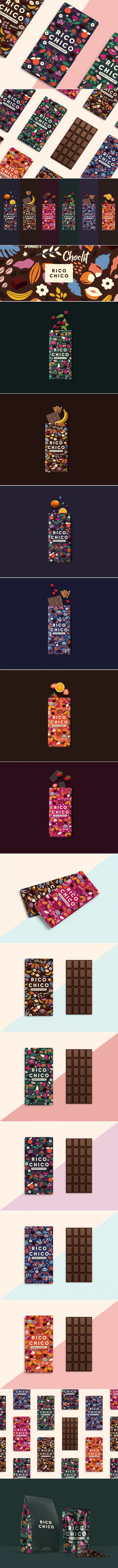 Rico Chico Chocolate Comes With Illustrations as Bold as The Flavors Themselves — The Dieline | Packaging & Branding Design & Innovation News