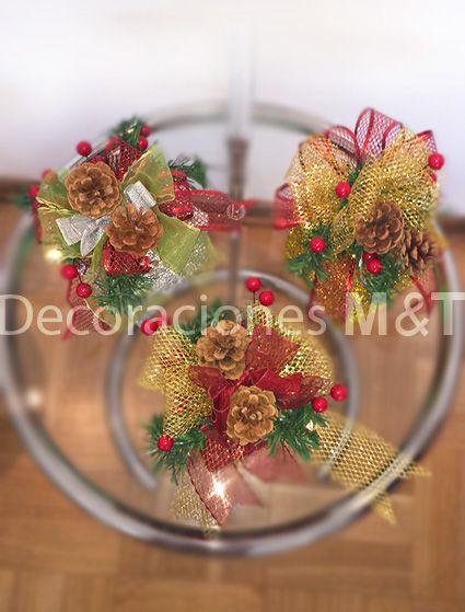 Conjunto de 3 cajas de luz hermosamente decoradas, especialmente para decorar tus espacios en esta navidad.