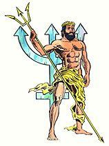 Neptune, roman god of the sea.