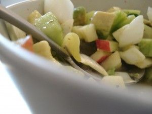 Organic Cucumber Apple Salad