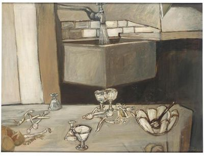 Jack Smith  (1928 - 2011)  Still Life with Running Tap
