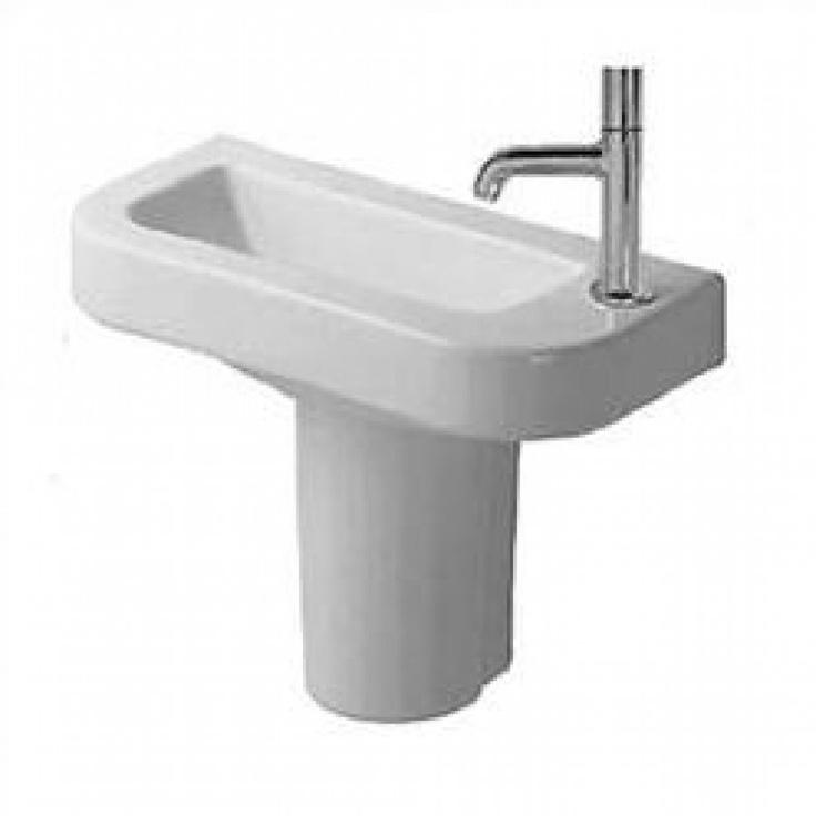 Duravit Pedestal Sink : Duravit Happy D. Semi Pedestal Bathroom Sink - D14019