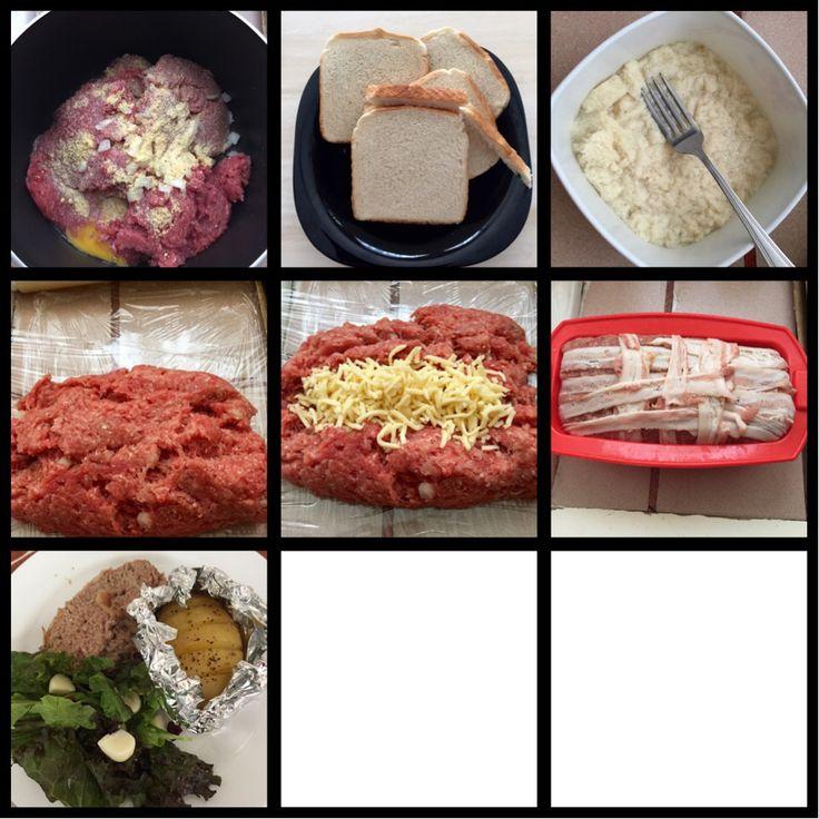 Pastel de carne con queso mozzarella envuelto en tocino!!!