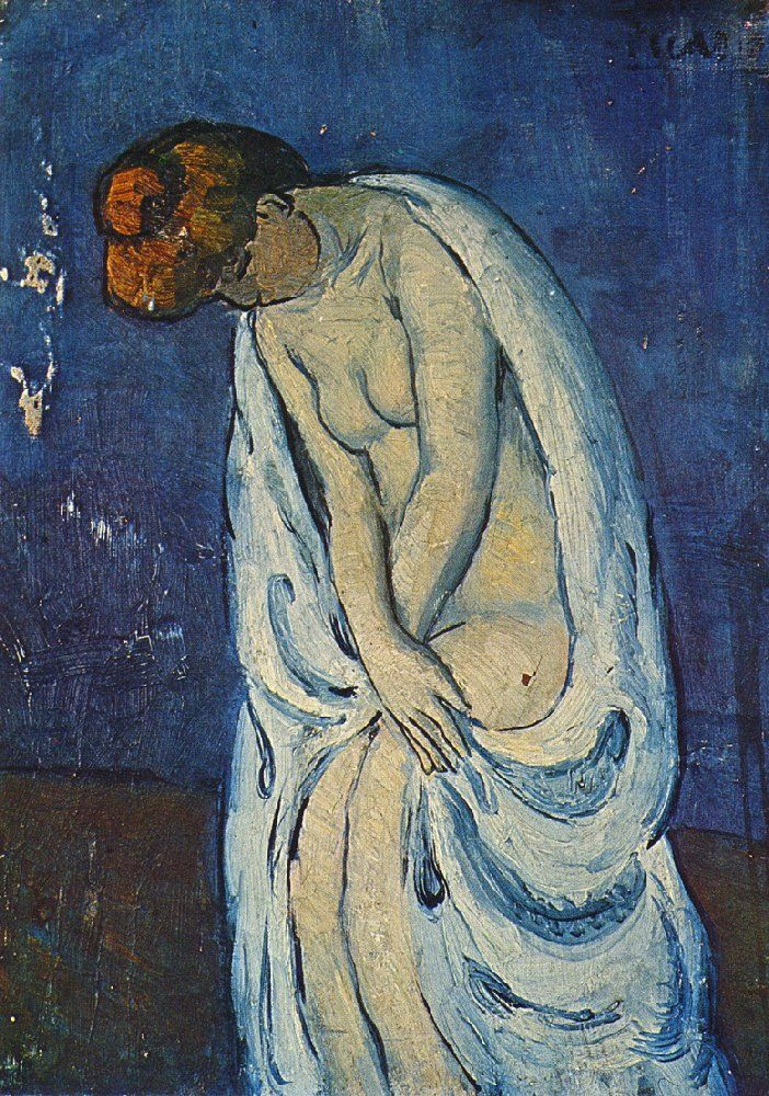 Pablo Picasso - Fase AzulArt Secret, Il Bagno1901, Aux Beauxart, Favorite Art, Artpablo Picasso, Bath 1901, Art Pablo Picasso, Blue Periodic, Woman Leaves