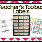 Have you seen those adorable teacher toolboxes on Pinterest? They are Free.  Well this download is for your very own, pre-made set of labels for the organizer! It...