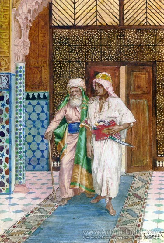 Returning Home oil painting by Rudolf Ernst