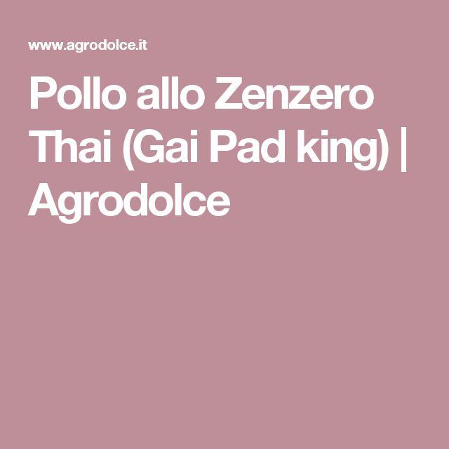 Pollo allo Zenzero Thai (Gai Pad king)   Agrodolce