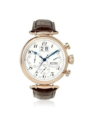-39,800% OFF Ritmo Mundo Men's 701/3 RG Corinthian Brown/White Stainless Steel Watch