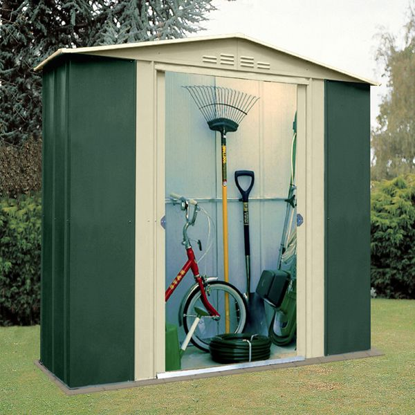 6 x 3 store more canberra six apex metal shed on walton garden buildings - Garden Sheds 6 X 3