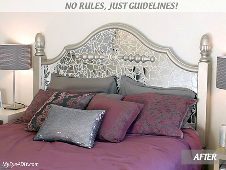 Best 25 mirror headboard ideas on pinterest glam bedroom white break a cheap walmart mirror to make an amazing headboard that glimmers and sparkles solutioingenieria Images