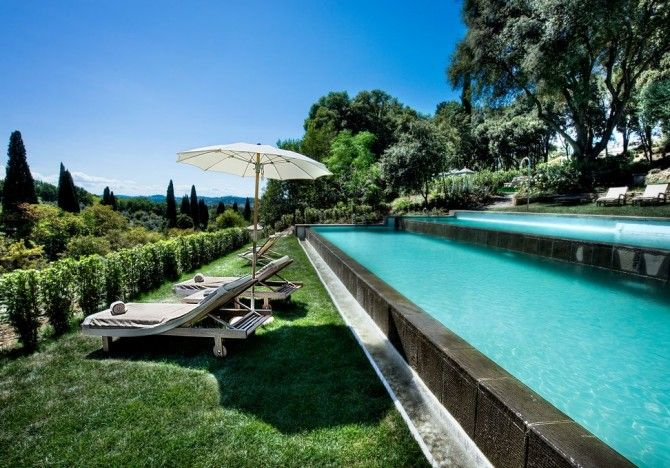 pool at Il salviatino luxury hotel Florence Tuscany