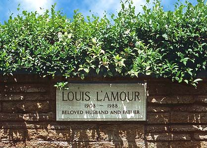 THE GRAVE OF LOUIS L'AMOUR  (author of western sagas) at Forest Lawn in Glendale, California