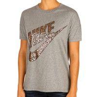 Nike Tenniskleding Sportswear Signal Metallic Met Korte Mouwen Dames - Donkergrijs, Goud
